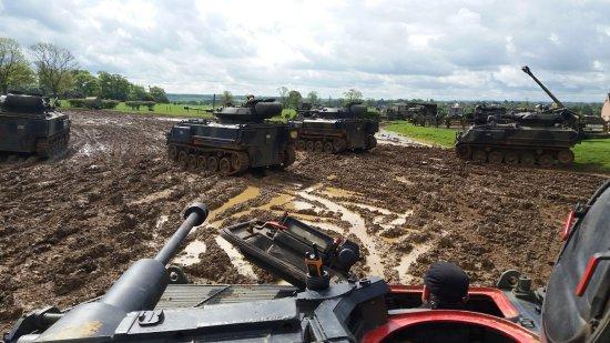 Lutterworth, UK: Tank Gridlock