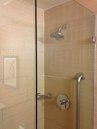 Belmont, Californien: walk-in shower with glass door :)