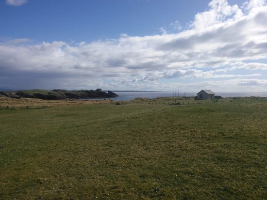 Clachtoll, UK: View from motorhome