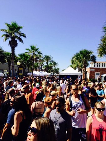 Neptune Beach, FL: Dancing in the streets is a fun event help every year at the intersection of Atlantic Blvd.