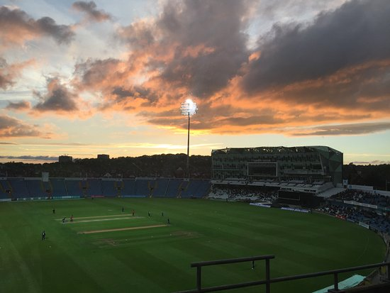 Headingley, UK: View of the ground from my room