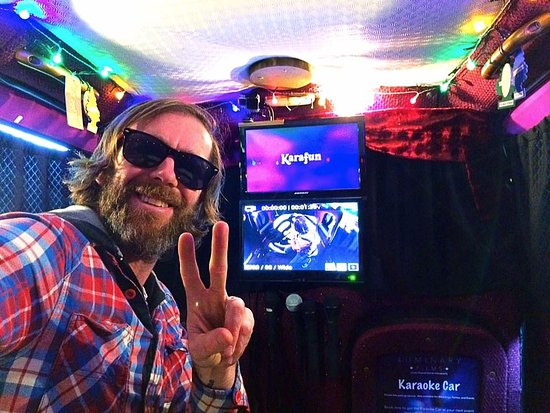 St. Ouen, UK: The Karaoke Car is Awesome!!