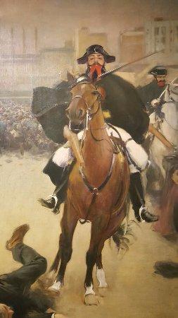 """Olot, Spain: Su título es """"La carga"""" de Ramón Casas, foto de detalle del lateral."""