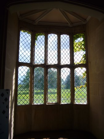 Lacock Abbey: Oriel window where Fox-Talbot carried out early photographic experiments.