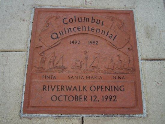 Columbus Riverwalk: Riverwalk plaque