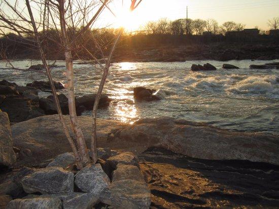 Chattahoochee rapids seen from Columbus Riverwalk