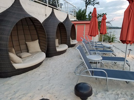 Graford, TX: beach pods are popular spot for naps!