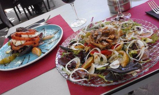 Vilafranca del Penedès, España: pedazo de ensaladas del menu!