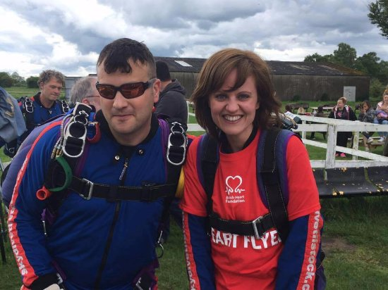 Whitchurch, UK: My instructor and I before the jump