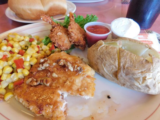Beaver, UT: Honey Pecan Chicken with 2 Shrimp and sides $10.99