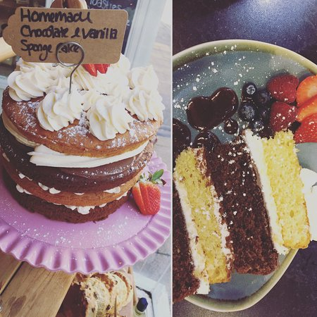Triple layered chocolate & vanilla sponge cake