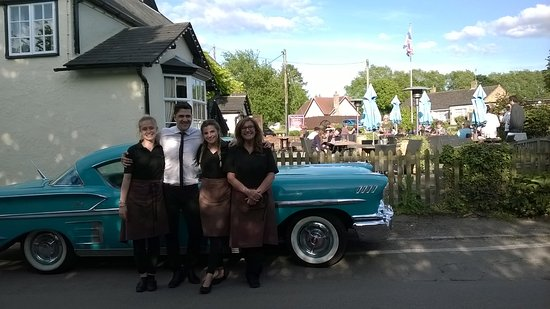 Clavering, UK: Staff outside