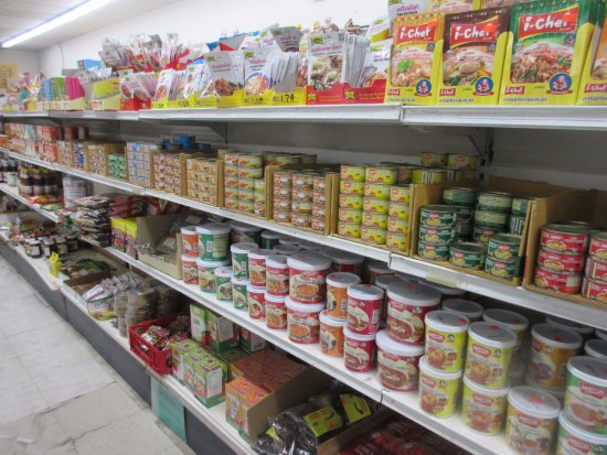 Silver Spring, MD: Rows of canned and packed food for your selection