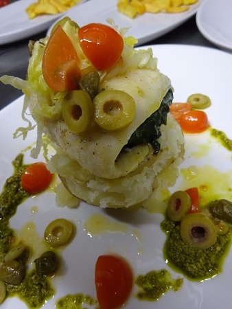 Fochabers, UK: Haddock Roulade stuffed with spinach