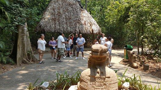 Freiluftmuseum Parque-Museo de La Venta: Mis compañeros de viaje muy atentos a las explicaciones del guía