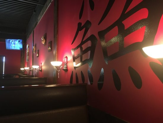 Overland Park, KS: I like Kanji and the combination of black and red is great for a sushi place