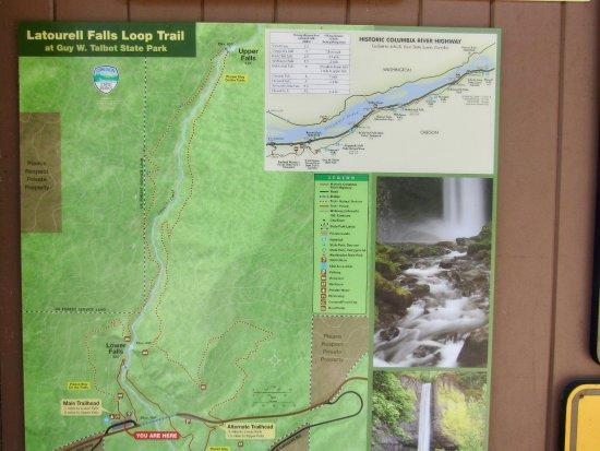 Corbett, Oregón: Trail map