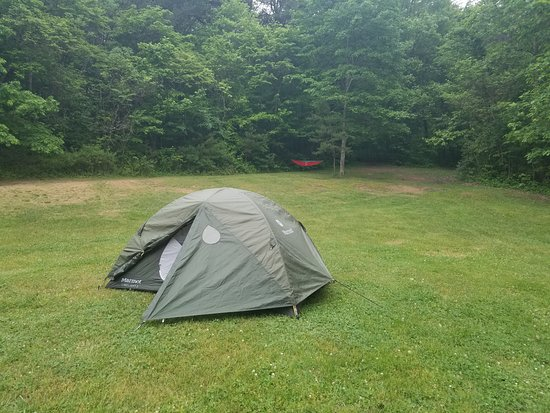 Logan, OH: Remote tent site 92