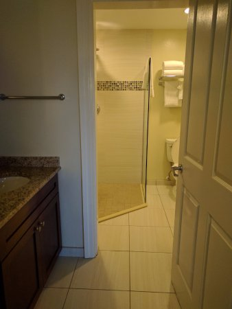 Huge bathroom with walk in shower picture of hilton for Huge walk in shower