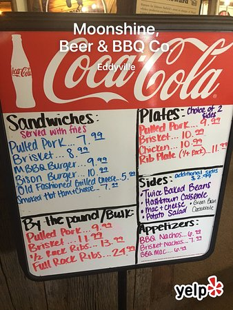 Eddyville, KY: Our menu is always growing and changing to better serve you your favorites