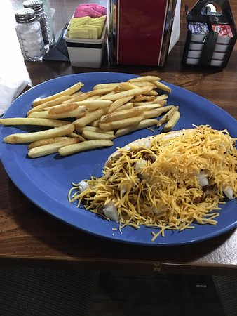 Eddyville, KY: MBBQ Chili cheese dog
