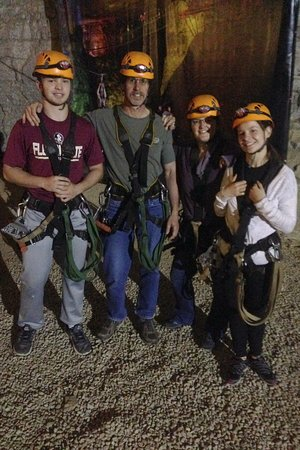 Louisville Mega Cavern: Getting geared up; wasn't too cold! Felt safe the entire time
