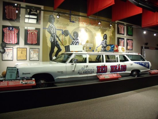 Women's Basketball Hall of Fame: Nine-door 1966 Pontiac, one of the vehicles used by the All American Red Heads pro women's team