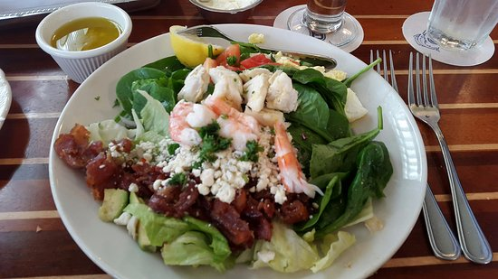 Humble, TX: The best seafood Cobb Salad with fresh lobster and shrimp.