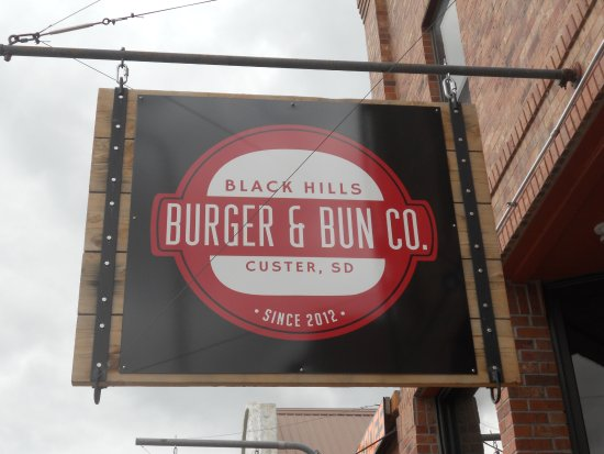 Black Hills Burger and Bun Co.: Sign, so you know what you're looking for!