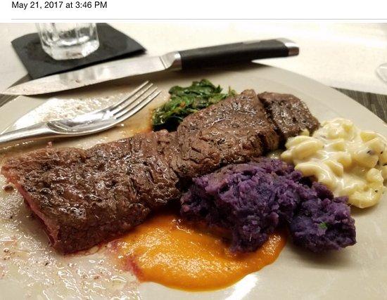Stripsteak Waikiki Tender Tasty Usda Prime Skirt Steak Yummy Purple Potatoes Tasty