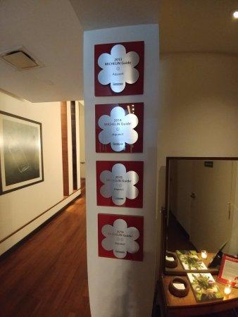 Aquavit: Michelin Stars on the wall