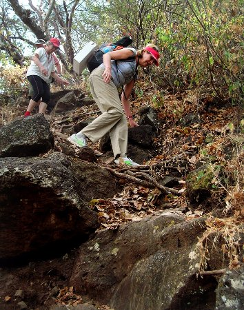 Cascada Los Azules: The trail is steep and uneven. Use hiking shoes.