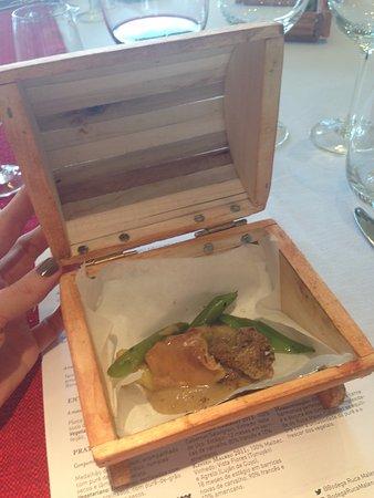 Bodega Ruca Malen: Um dos pratos do almoço harmonizado