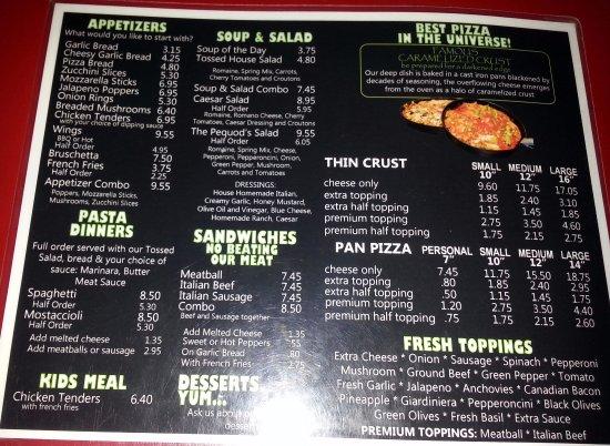 Morton Grove, IL: pizza menu page