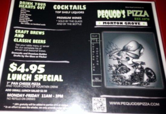 Morton Grove, IL: menu page