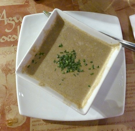 Como Agua Para Chocolate: flavorsome cream of mushroom soup with shallots