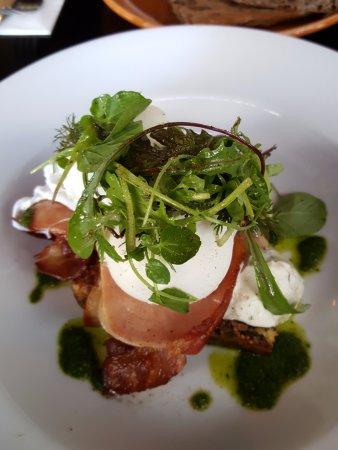 St Leonards, Australia: Quinoa & Spinach Bake with Bacon & Eggs (GF)