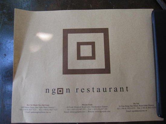 Ngon Restaurant, Phnom Penh, Cambodia: お店のマーク