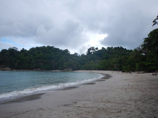 Costa Rica Jade Tours: Beautiful beach at the end of the main trail - watch out for raccoons!