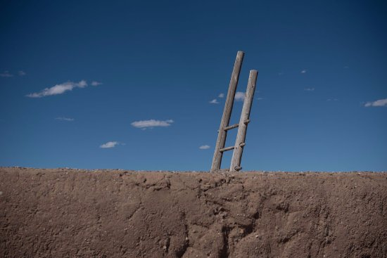 Bernalillo, NM: Ladder from the Painted Kiva