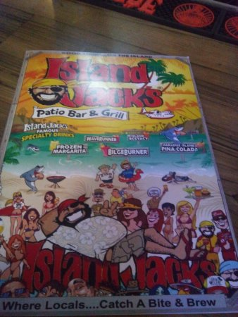 Island Jacks Patio Bar And Grill: Menú