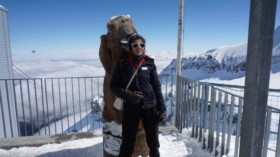 Les Diablerets, Switzerland: Atop the highest point on Glacier 3000