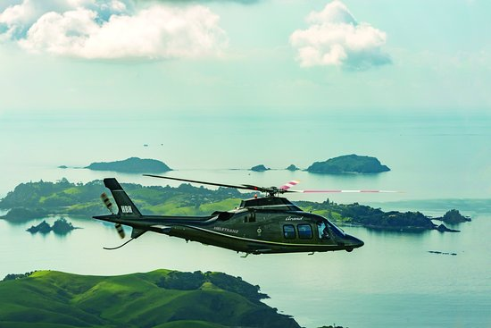 Heletranz Helicopters: Agusta 109s Grand flying over land and sea