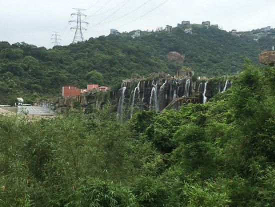 OCT East Shenzhen: Man-made waterfall near the entrance