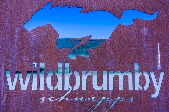 Jindabyne, Australia: The rusted logo sign