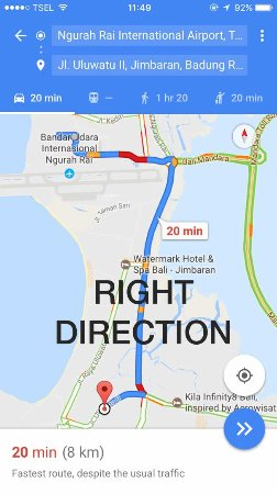 Google Map Right Direction Picture Of Aahh Bali Bed