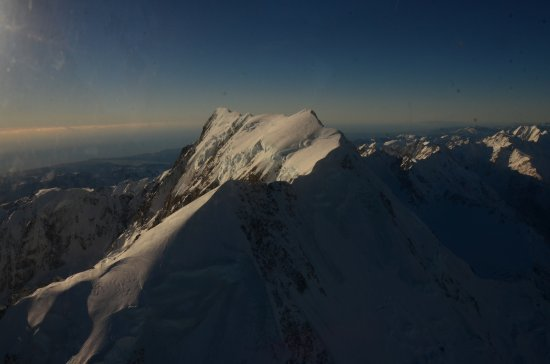 Mt. Cook Village, Nowa Zelandia: Mt Cook Looking West from Helicopter