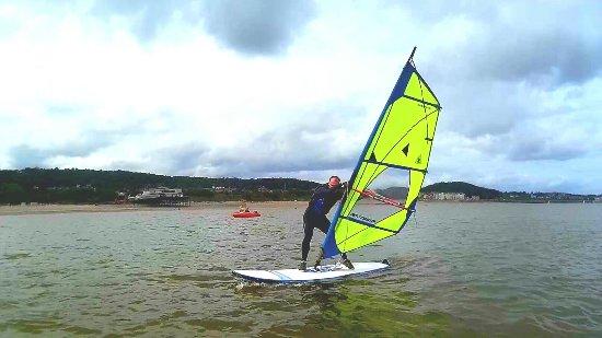 Colwyn Bay, UK: Windsurfing