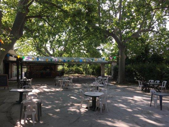 Aramon, Франция: les terrasse les platanes