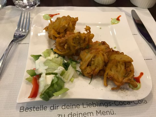 tikka masala and onion bhajiboth excellent picture of indian kitchen
